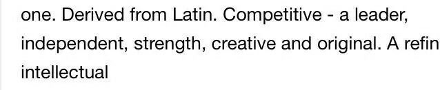 This is what my name (Tina) means in Latin, what does yours mean?