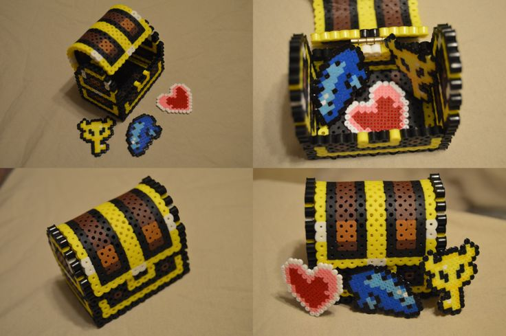 3D Legend of Zelda Chest perler beads by ARD95 on DeviantArt