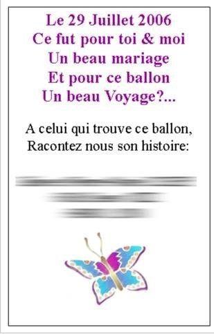 les prparatifs du mariage de coco et nico cartes pour le lcher de ballons - Lacher De Ballon Mariage