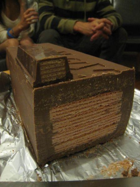 My Crazy Email: How To Make A Super Huge Kit Kat Bar