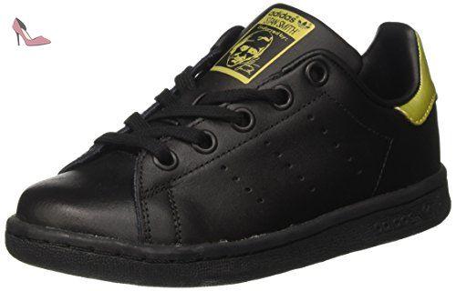 Adidas Stan Smith, Sneaker Bas Cou Mixte Enfant, Noir (Core Black/Core Black/Gold Metallic), 38 2/3 EU - Chaussures adidas (*Partner-Link)