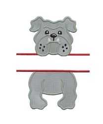 Split Bulldog Applique - 4 Sizes! | Font Frames | Machine Embroidery Designs | SWAKembroidery.com Applique for Kids