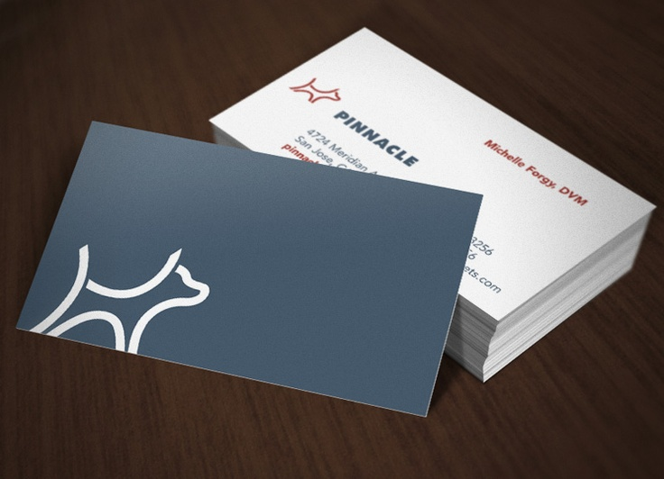 simple logo and card