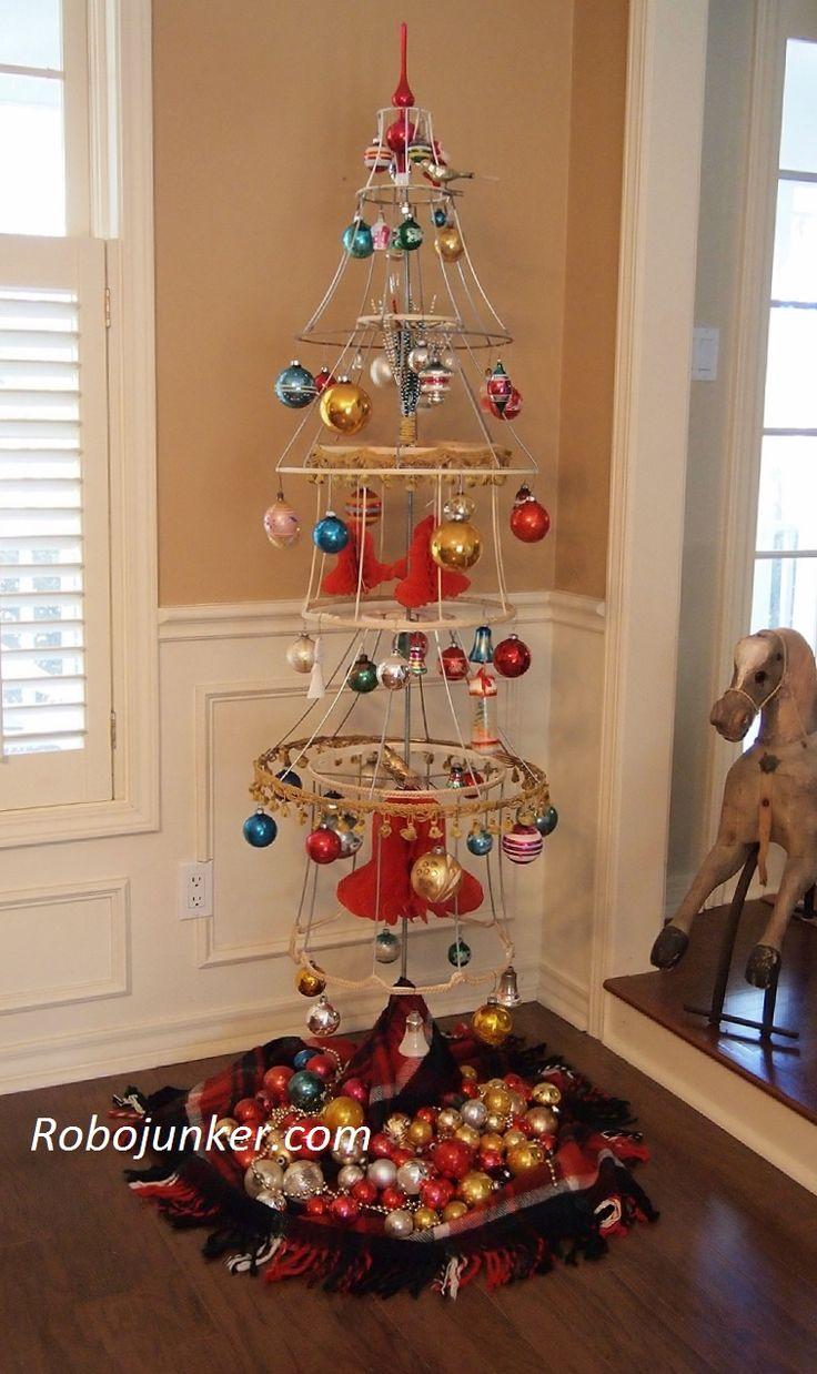 Margo's Junkin Journal: Lamp Shade Christmas Tree, Christmas Outside The Box