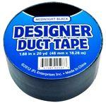 JFL Midnight Black Duct Tape 1.88 in x 20 yds