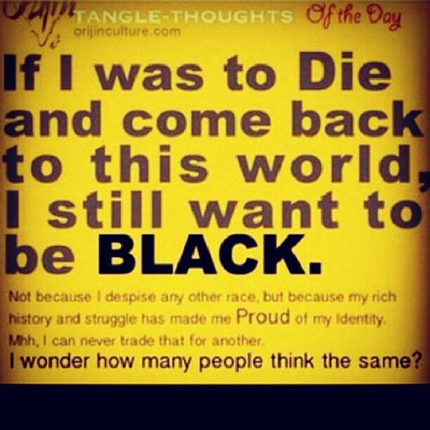 My black is beautiful! :)