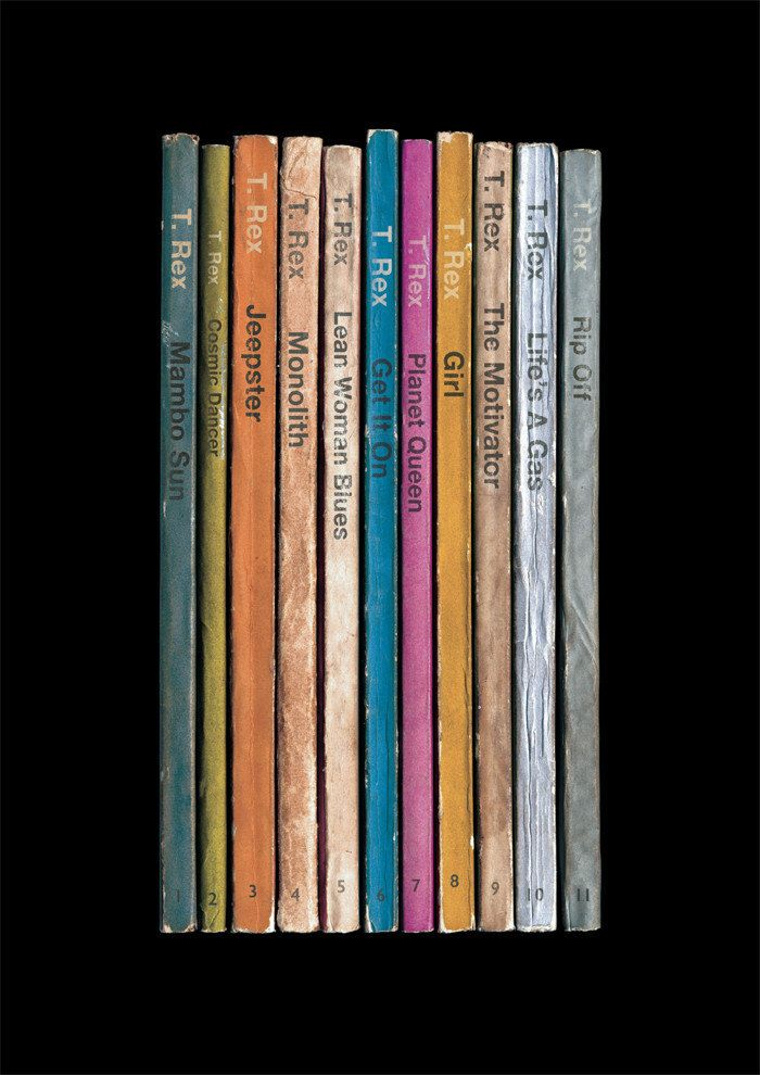 T Rex Electric Warrior Poster Print Album As Books Marc Bolan Literary Print Paperback Books Glam Rock Music Poster Music Art T.Rex