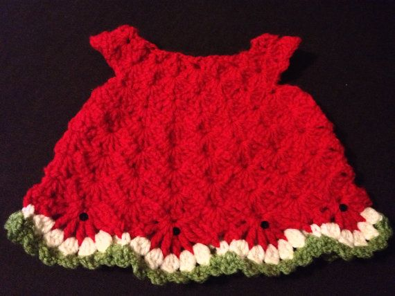 Free Crochet Watermelon Dress Pattern : 365 best images about Crochet for Children on Pinterest ...
