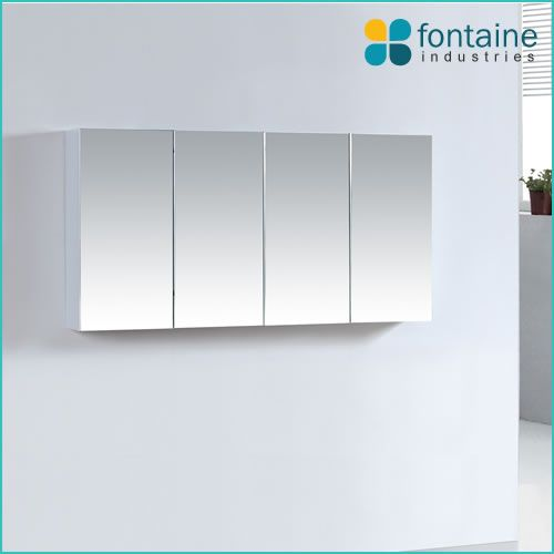 1200x600 wall mounted or recessed mirror cabinet, shaving medicine storage cupboard | Renovation Design Ideas Affordable | Fontaine Industries |