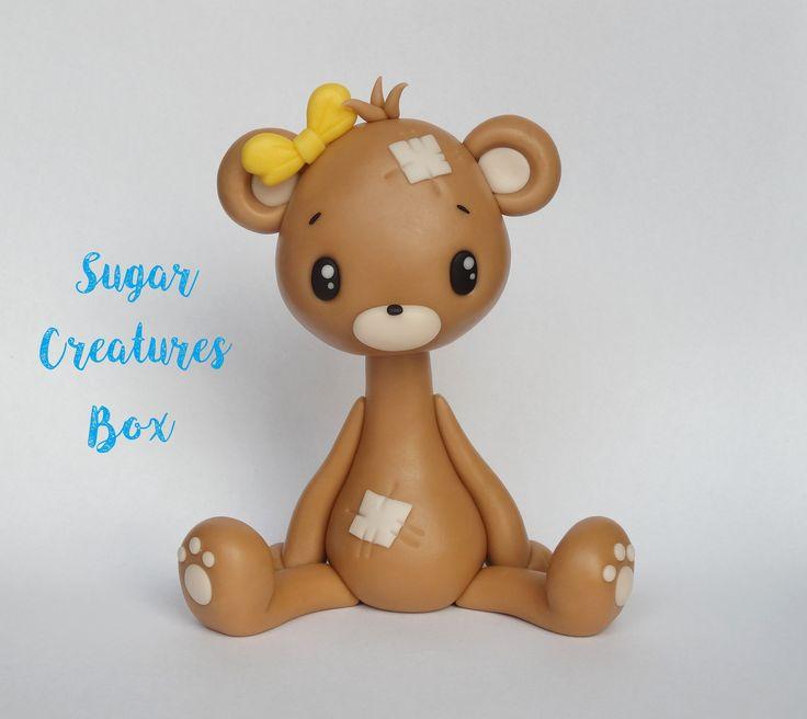 Miś - figurka na tort Bear cake topper