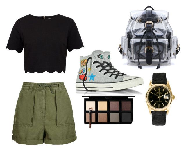 """""""Camping Day"""" by simranbasi12 on Polyvore featuring Ted Baker, Topshop, Converse, Rolex and Down to Earth"""