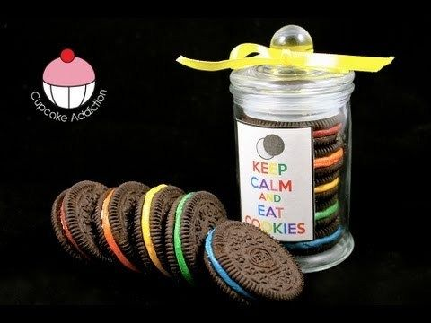 Rainbow Oreo Cookie Jars – Easy No-Bake Recipe! A Cupcake Addiction How To Tutorial