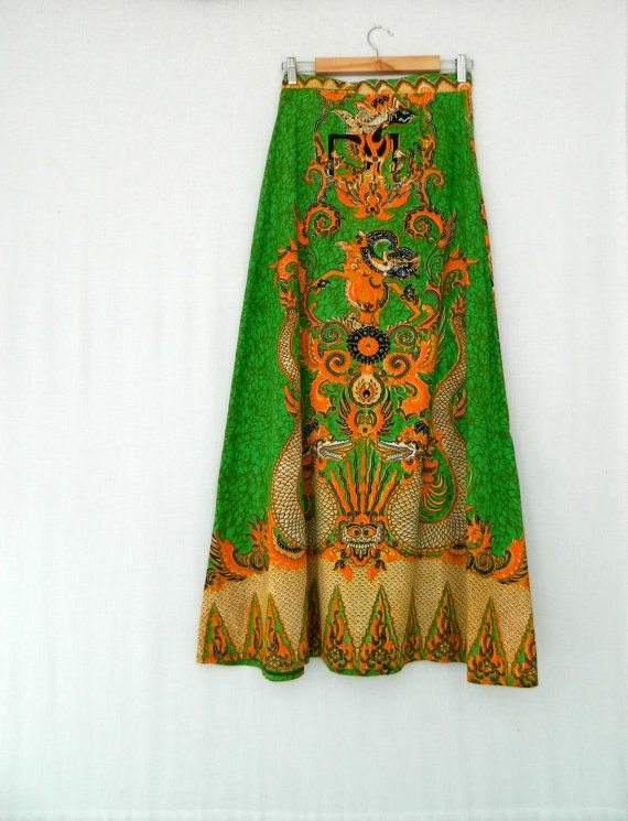LUCY . vintage women's boho wrap maxi skirt by ThePaisley5Vintage