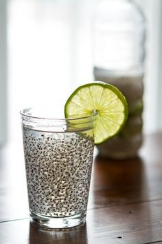 So I started drinking Chia Fresca (found on my favorite food blog ohsheglows.com) - AHHH-MAZING! Yes, it looks like that. Yes, it tastes good. Yes, it gives you energy and hydration. Yes, you should try it too.