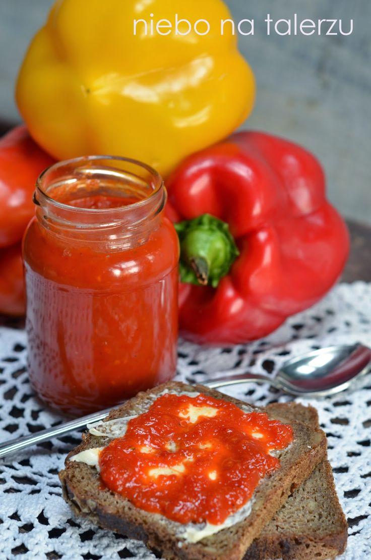 niebo na talerzu: Łatwy sos z papryki do słoików na zimę