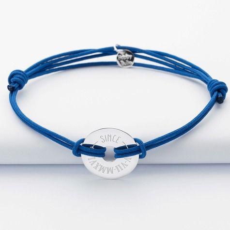 Personnalisé Cordon Médaille Argent Homme Bracelet Double Gravée Fc3Ku1TlJ5