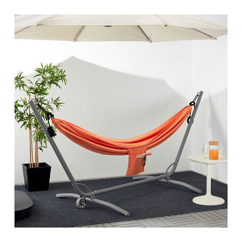 Garo Riso Hammock With Stand Gray Pale Orange Ikea Hammock Stand Hammock Ikea