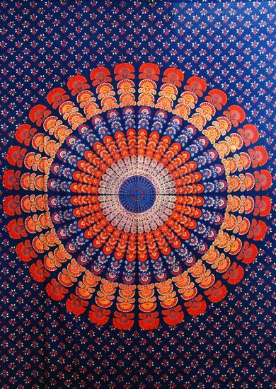 vibrant 100% pure cotton blue mandala indian boho tapestry #thiscounts s #home #decor #homedecor #tapestry #wallart #curtains
