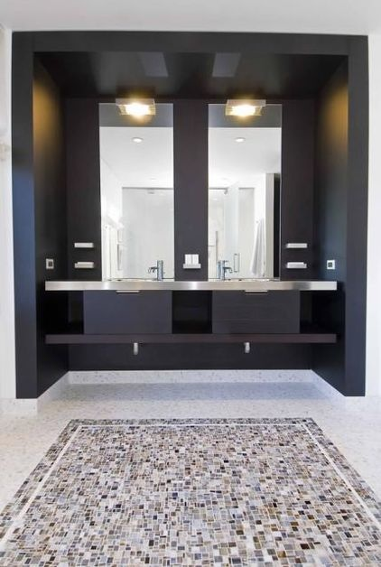 modern bathroom by hughes construction inc modern bathroom designcontemporary - Bathroom Designs Contemporary