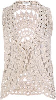 V.Martini - Carmen Chaleco Crochet Circular: