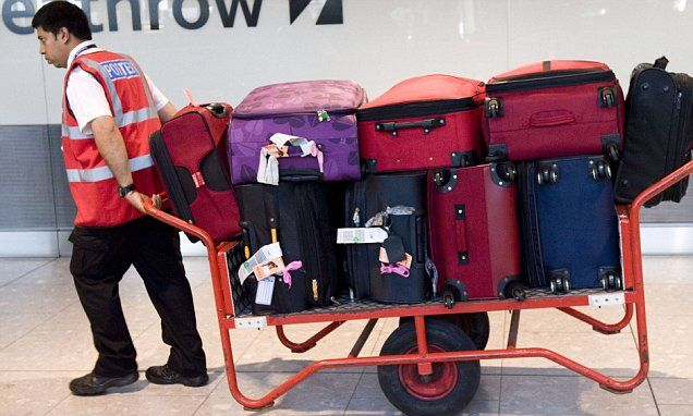 Brits pay out £395million in excess baggage charges