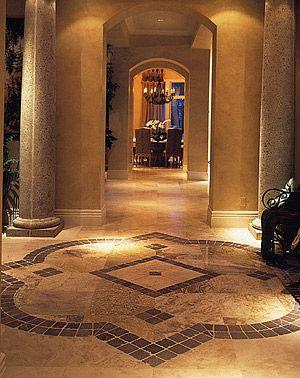 travertine floor idea   tile medallion at entry  98 best tile medallion and mural designs images on pinterest      rh   pinterest com