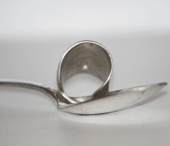 Versilberte Löffel Schöpfkelle ring von TinkersandThinkers auf Etsy
