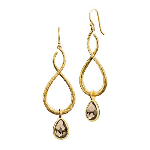 https://www.cityblis.com/12765/item/12984 | QUEEN/RAIN DROPS - EARRINGS - $275 by ARSLEV JEWELRY | IZABEL CAMILLE 925 Sterling Silver  18 Carat Gold Plating  Queen earrings: A1131g  Size: 0.8x2 in  2 x Rain Drops pendant: A5095g-smoky  Size: 0.7x0.4 in  Smoky Zirconia  Create your own earrings by mix and matching pendants and earrings individually at arslev.com | #Earrings
