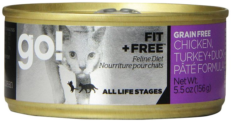 PETCUREAN 152040 24-Pack Go Fit and Free Grain Free Chicken/Turkey/Dck Pate Can for Cat, 5.5-Ounce > Discover this special cat product, click the image : Best Cat Food