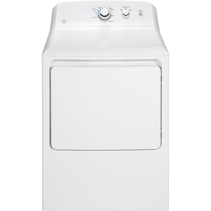 GE 6.2-cu ft Electric Dryer (White)