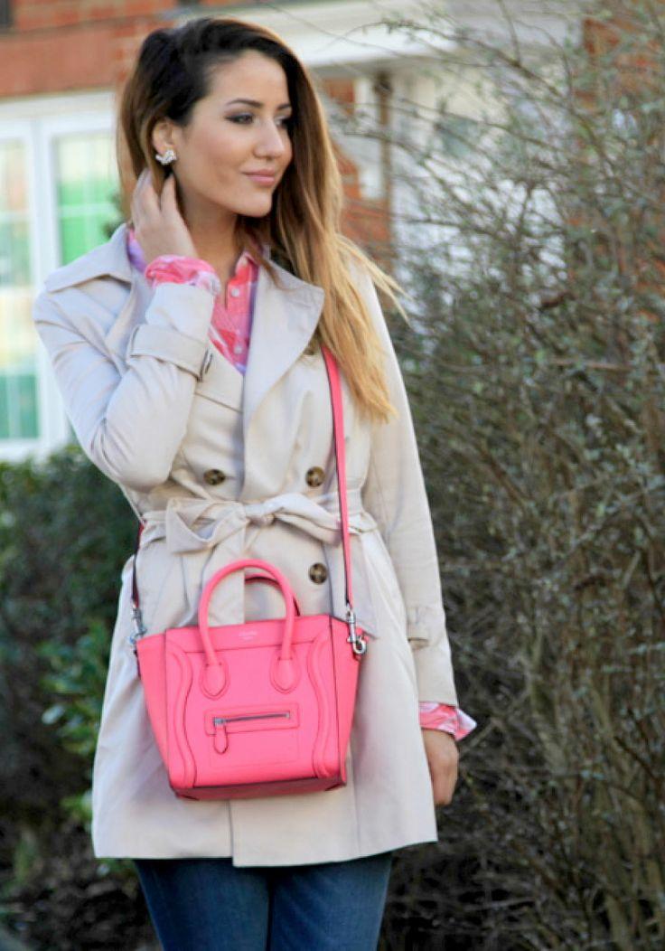 #celine #pink #girly #TamaraKalinic #fashion #outfit #myzine #streetstyle #mac #trenchcoat #luxury