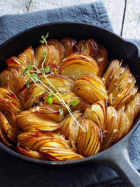 Ovnsbakte poteter med timian