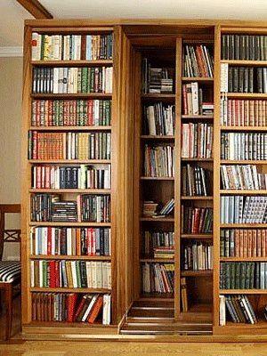 The ultimate bookcase ~ shelves behind shelves behind shelves ......