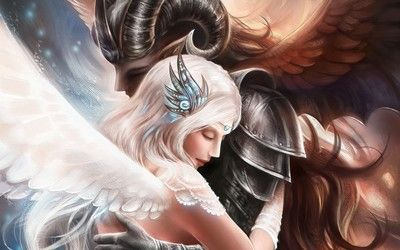 Angel and warrior wallpaper