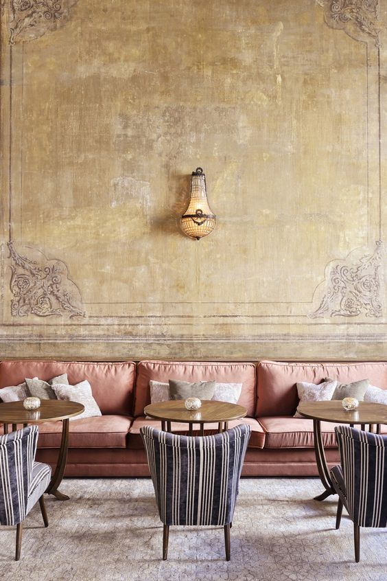 Pink Sofa and beautiful wall lamp at at Soho House Istanbul      www.bocadolobo.com #bocadolobo #luxuryfurniture #exclusivedesign #interiodesign #designideas #hotelinterior #hoteldesign #hotelroom #hotellobby #luxuryhotel #modernhootel #boutiquehotel