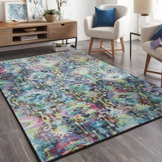 Silver Orchid Baum Prismatic Distressed Area Rug 8 X 10 8 X