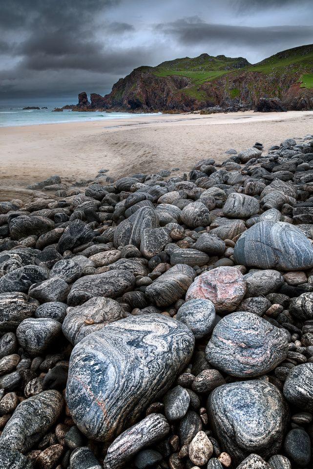 Scotland Itinerary :: Scottish Highlands :: Dalmore Beach. ( Traigh Dhail Mor ) Isle of Lewis. Scotland.