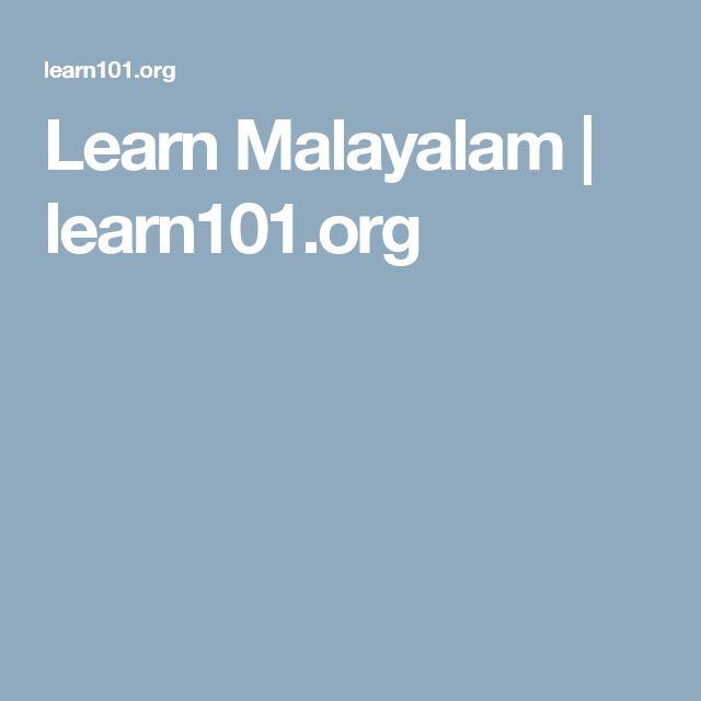 Learn Malayalam   learn101.org