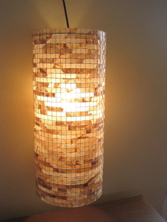 COFFEE FILTER ART - Chandelier Lighting Hanging Light Ceiling Lamp Pendant Light Hanging Pendant Lamp Shade