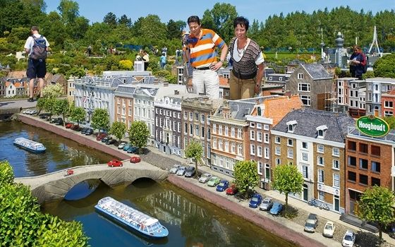 "Madurodam (Holland in miniature size) • ""Miniature park Madurodam is situated just an hour drive from Amsterdam and the tulip fields and is the ultimate place to discover what makes Holland so unique. Canal houses, tulip fields, cheese market, windmills, Peace Palace, Deltaworks: you will find them all in Madurodam."""