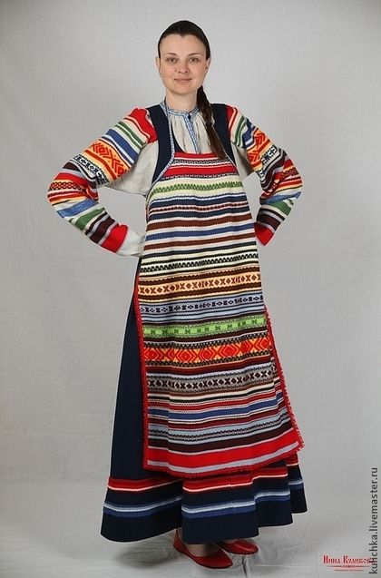 Russian folk costume Moscow province