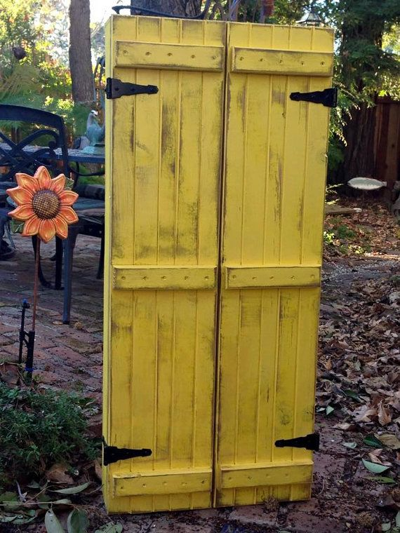 Bright Yellow Jewelry Cabinet