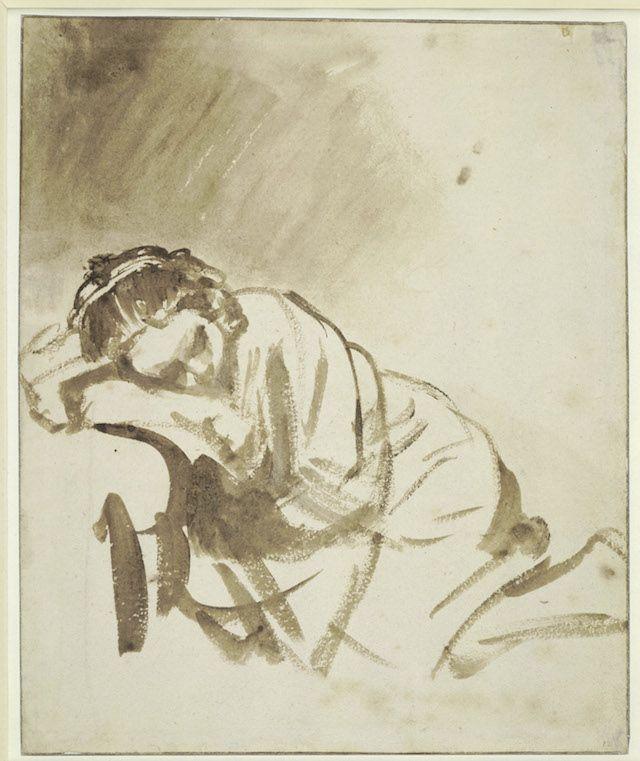 Rembrandt Ragazza che dorme (Hendrickje Stoffels) 1654