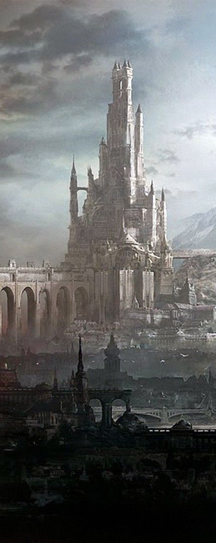 Lucifer's castle with Pandemonium in the foreground // [ Fantasy World_AleksiBriclot ]