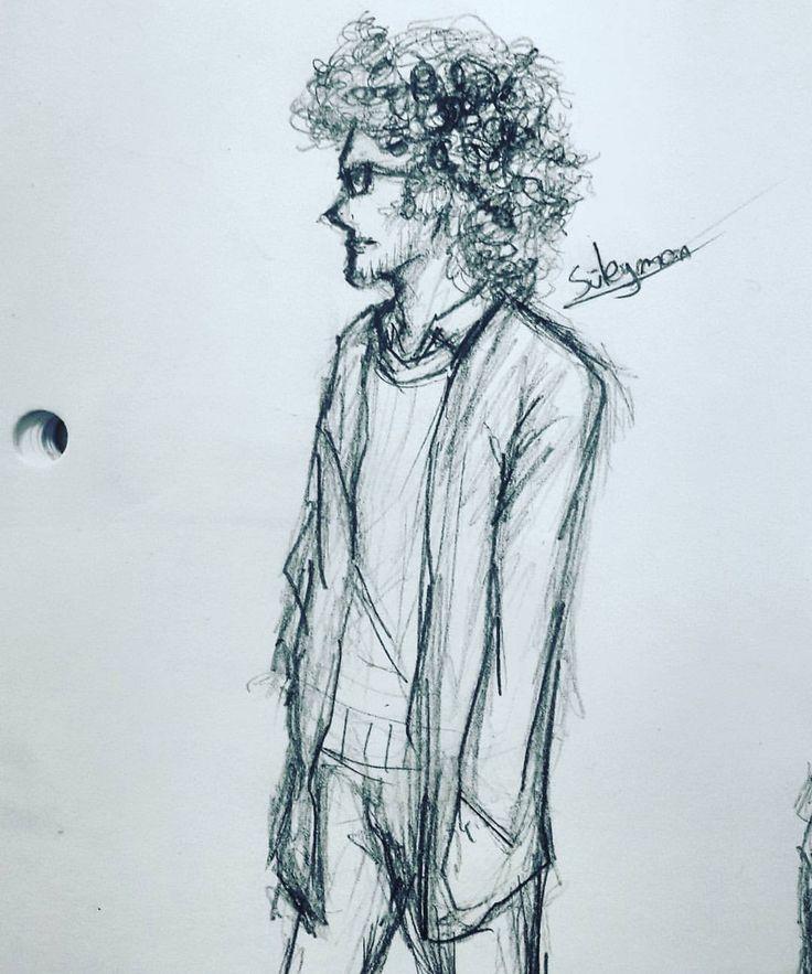 "Drawing one of my friends ""Süleyman"" during class ( ͡° ͜ʖ ͡°) #drawing #art #traditional #man #sketches #art🎨 #classmate #friends #notebook #süleyman #curlyhair #school #boringschoolday #highschool #duringclass"