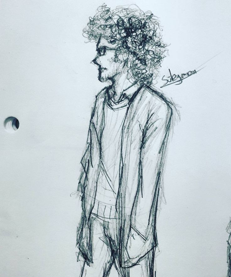 "Drawing one of my friends ""Süleyman"" during class ( ͡° ͜ʖ ͡°) #drawing #art #traditional #man #sketches #art🎨 #classmate #friends #notebook #süleyman #curlyhair #school #boringschoolday #highschool #duringclass"