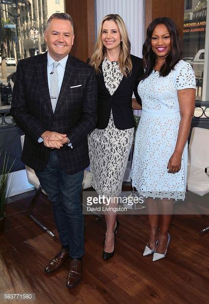 News Photo : Host Ross Mathews, actress Mira Sorvino and...