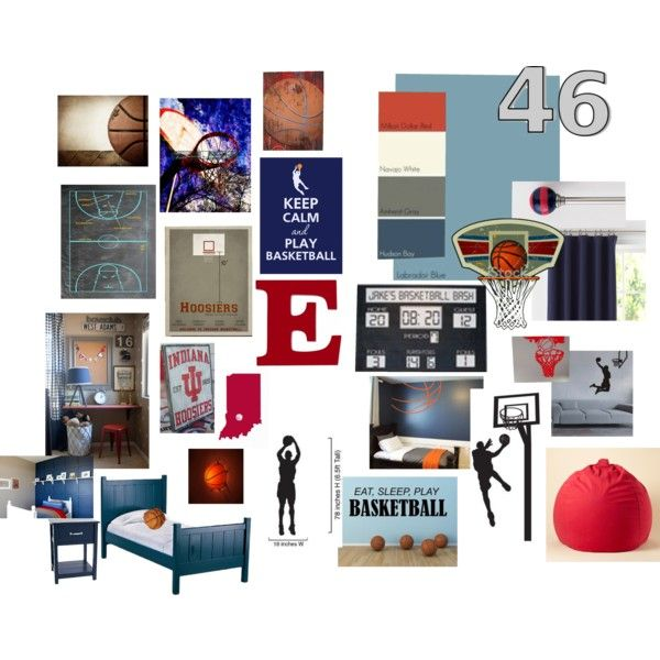 Gray Bedroom Mood : Basketball themed bedroom for e boys