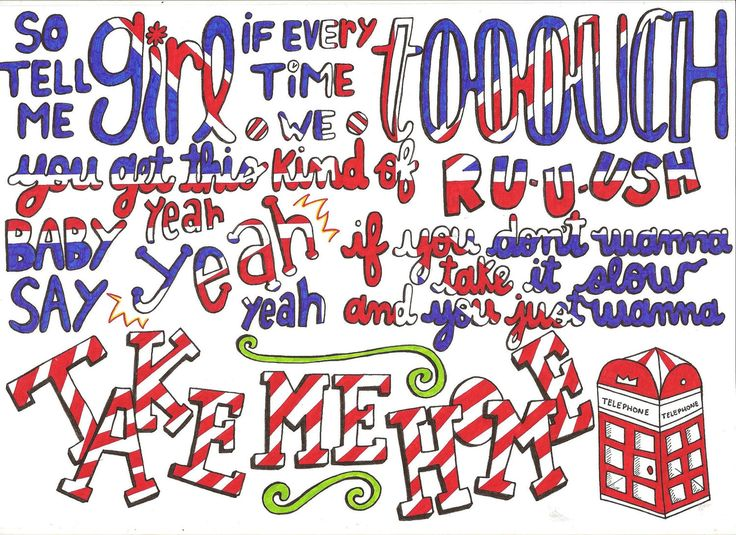 lyric art | Kiss You lyrics by One Direction by xdirectioniall on Etsy