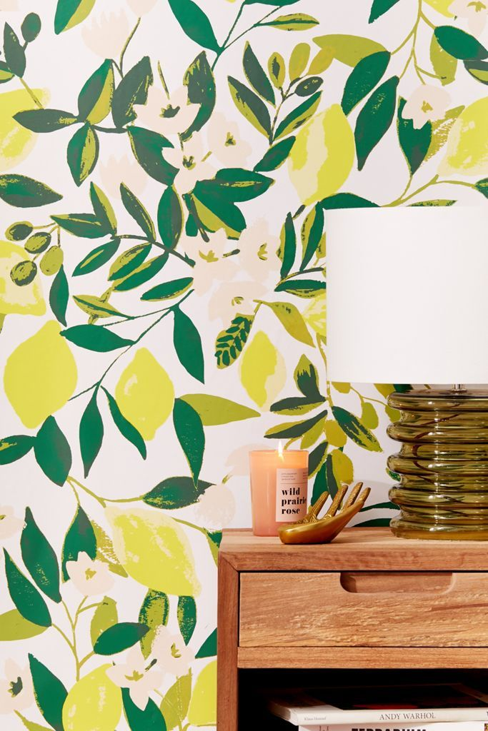 Lemons Removable Wallpaper Urban Outfitters In 2020 Removable Wallpaper Decal Wall Art Wallpaper